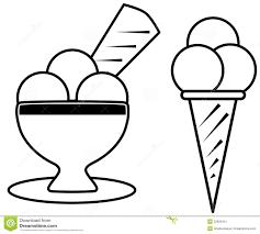Kleurplaten Kawaii Ijsje Vector Illustration Doodle Gteau Exercices