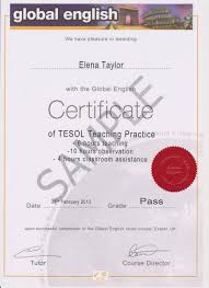 20 Hour Teaching Practice Global English