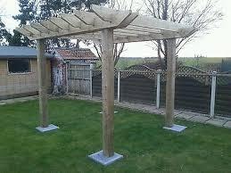 wooden garden pergola car port shelter