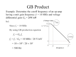 gb example determine the cutoff frequency of an op amp having a unit
