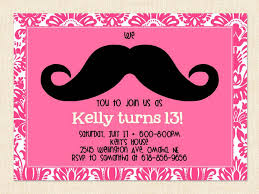 printable 13th birthday party invitations for girls my bday printable 13th birthday party invitations for girls
