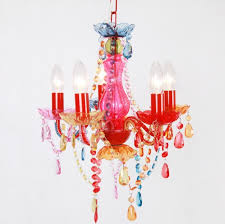 modern fashion multicolor pink chandelier kids lighting for bedroom pendant children lamp kids