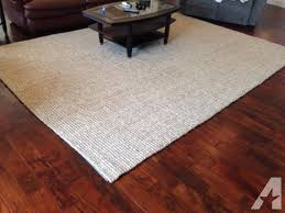 pottery barn 9 x12 heathered chenille jute rug like new