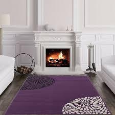 large modern violet purple black cream plain area rug soft fl carpet rugs