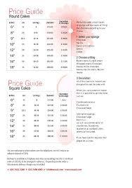 Vanilla Price Chart Cake Price Guide May08 Cakepins Com In 2019 Cupcake Cakes