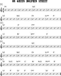 Green Dolphin Street Chart Jazz Guitar Bebop Jazz Guitar Elements Blog