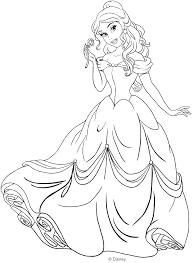 Principessa Belle Da Colorare Portalebambini