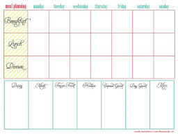 weekly menue planner menu planning