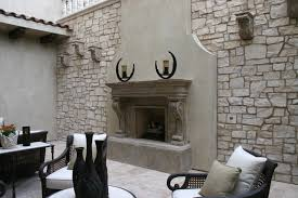 custom patio fireplace by realm of design