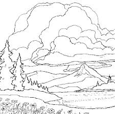Small Picture Landscape coloring pages mountain lake ColoringStar