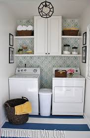 Laundry room makeovers charming small Cleaning Laundry Room Makeover For Only 157 Painted Floors Stenciled Walls Come View Along The Way Laundry Room Inspiration Redecorate Laundry Room On Budget