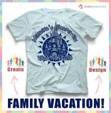 Family Shirt Design Template Family Vacation Custom T Shirt Design Idea Create A
