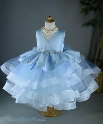 Light Blue Baby Dress Light Blue Haze Flower Girls Couture Dress Products