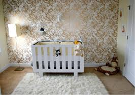 bold metallic nursery wallpaper