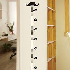 Wall Ruler Height Chart Buy Amaonm Vinyl Growth Chart Kit Kids Diy Height Wall