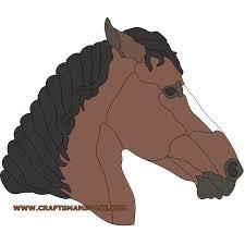 horse head intarsia pattern gif