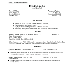 Awesome No Work Experience Resume Template In Job Examples Templates