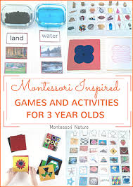 montessori inspired activities and games for 3 year olds
