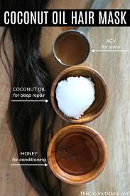 coconut oil hair mask easy diy recipe
