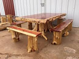 extra outdoor cedar log furniture dining table from wild west creation rustic shower bench shutter sauna cabinet finish bar rocking chair