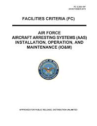 Afimsc Org Chart Facilities Criteria Fc Air Force Aircraft Arresting