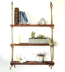 wooden shelf for wall shelves cherry wood hanging three rope barn bookshelf mounted designs