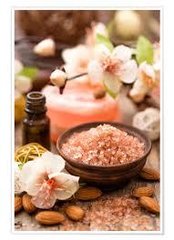 premium poster bath salt in wooden bowl