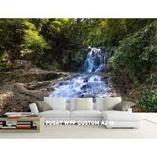 air terjun, Custom wallpaper dinding 3D ...