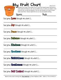 Fruit Chart Bible Study For Kids Sunday School Lessons