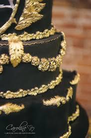 black gold wedding cake