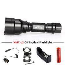ANJOET C8 Tự vệ đèn pin 5 chế độ XML T6 Q5 L2 LED 1198LM Nhôm đơn Chiến  Thuật Đèn Pin Đèn dùng cho Cắm Trại, Đi Xe Đạp|LED Flashlights