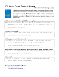 Apa Citation Format For The Reference List Page