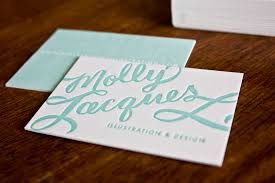 Letter Press Business Card Molly Jacques Calligraphy Business Cards Artwork