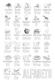 Keep the spanish alphabet front and center with this free, printable alphabet chart that includes the letters and items that start with each letter. Spanish Alphabet Coloring Page By Katie Santana Tpt