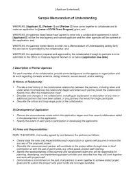 Memorandum Of Understanding Template Beauteous Agreement Letter Templates Free Sample Example Format Within Payment