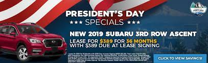 Our Subaru Dealership In Portland Makes Owning A New Impreza Forester Outback Crosstrek Or Legacy A Breeze With Our Lowest Payment Financing Best Price President S Day Special Offers Subaru Of