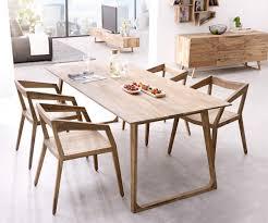 Esstischgruppe Wyatt Sheesham Natur 200x90 Cm Mit 4 Stühlen Möbel