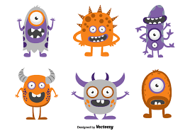 funny cartoon monsters free vector art stock graphics images