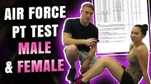 Air Force Pt Test Male Female
