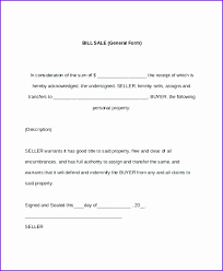 Bill Of Sale Template Word Document 20 General Bill Of Sale Template Lock Resume