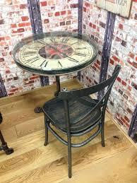clock coffee table vintage industrial clock round dining table quartz clock coffee table