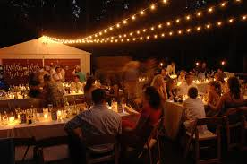 Diy outdoor wedding lighting Wedding Tent Decoration Night Photo Of Backyard Wedding Reception In Driveway Featuring Candles And Cafe Lights Young House Love Our 4000 Backyard Wedding Young House Love