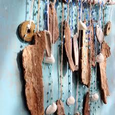 bohemian beach driftwood art wall hanging beach room decor