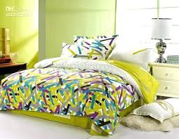 lime green bedding set purple and green bedding whole purple blue green modern striped pattern full