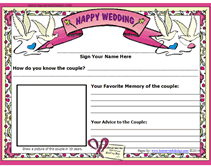 guest book template free free wedding guestbook printable pages