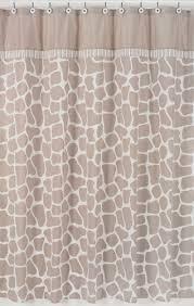 giraffe neutral kids bathroom fabric bath shower curtain by sweet jojo designs to enlarge