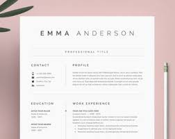 Modern Resume Template Oddbits Studio Free Download Resume Template Etsy