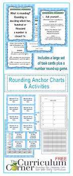 Rounding Anchor Chart 4th Grade Rounding Anchor Charts Activities The Curriculum Corner 123