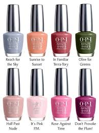 Opi Gel Color Chart 2016 New Review Colors Opi Infinite