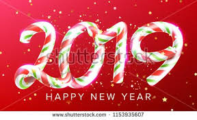 2019 Happy New Year Background Vector. Numbers 2019. Christmas ...